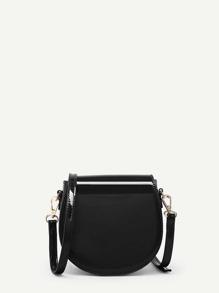 PU Saddle Crossbody Bag