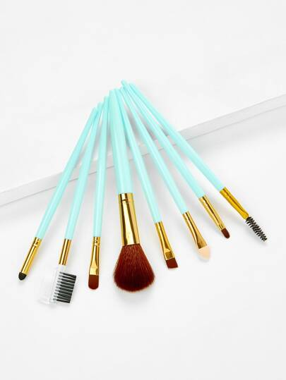 Two Tone Handle Makeup Brush Set 8Pcs