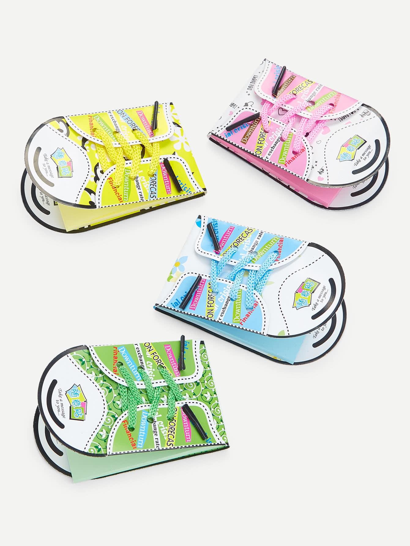 Cartoon Shoes Memo Pad Set