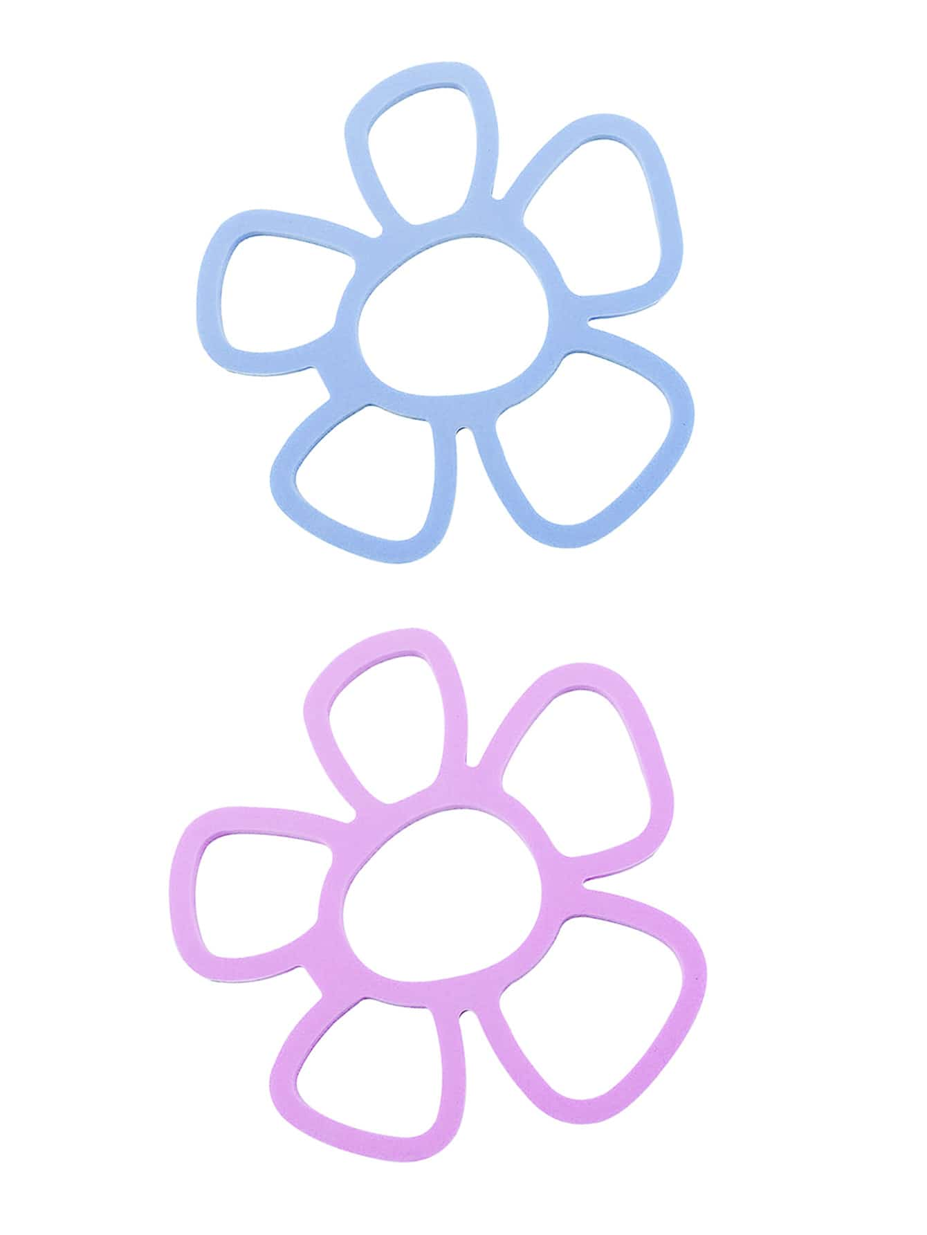 1Pc Random Color Flower Shape Heat Insulation Placemat random color door stopper 1pc