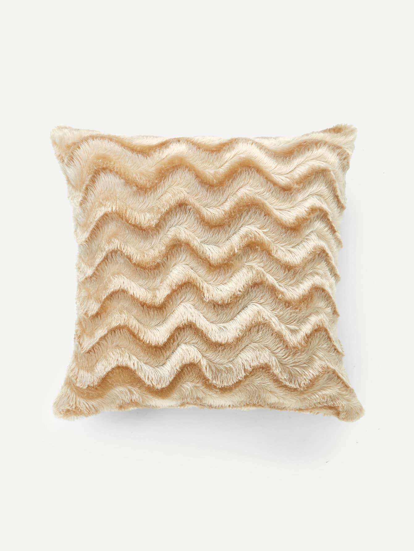 Chevron Faux Fur Pillow Case