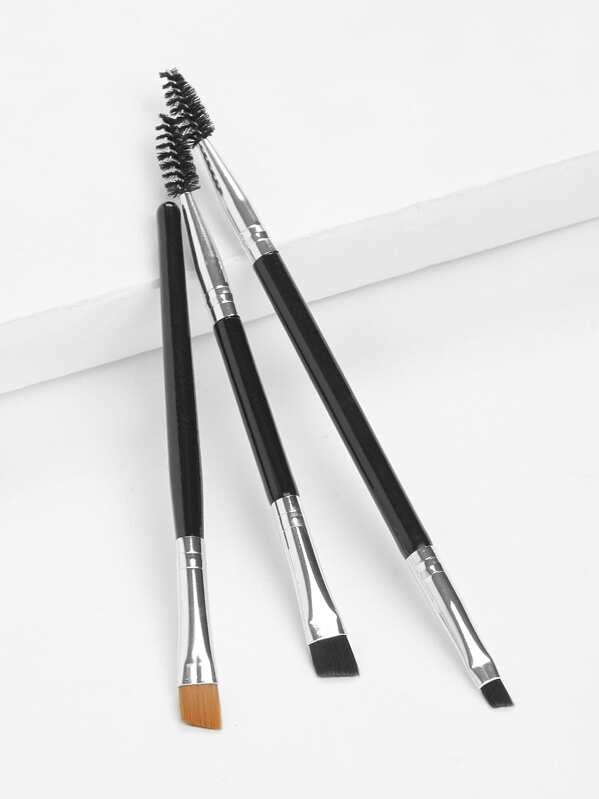 Duo Eye Brow Brush 3pcs, null