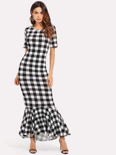Dip Hem Fishtail Dress