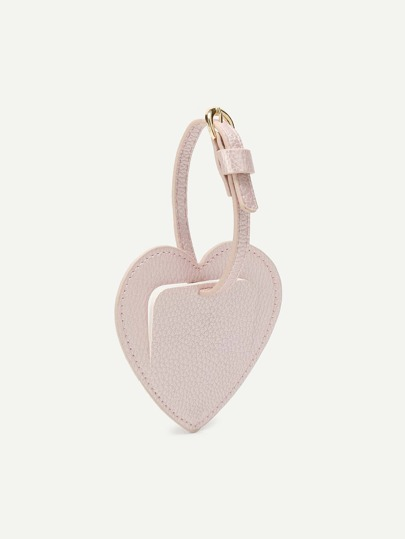PU Heart Shaped Bag Charm