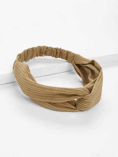 Rib Knit Twist Headband