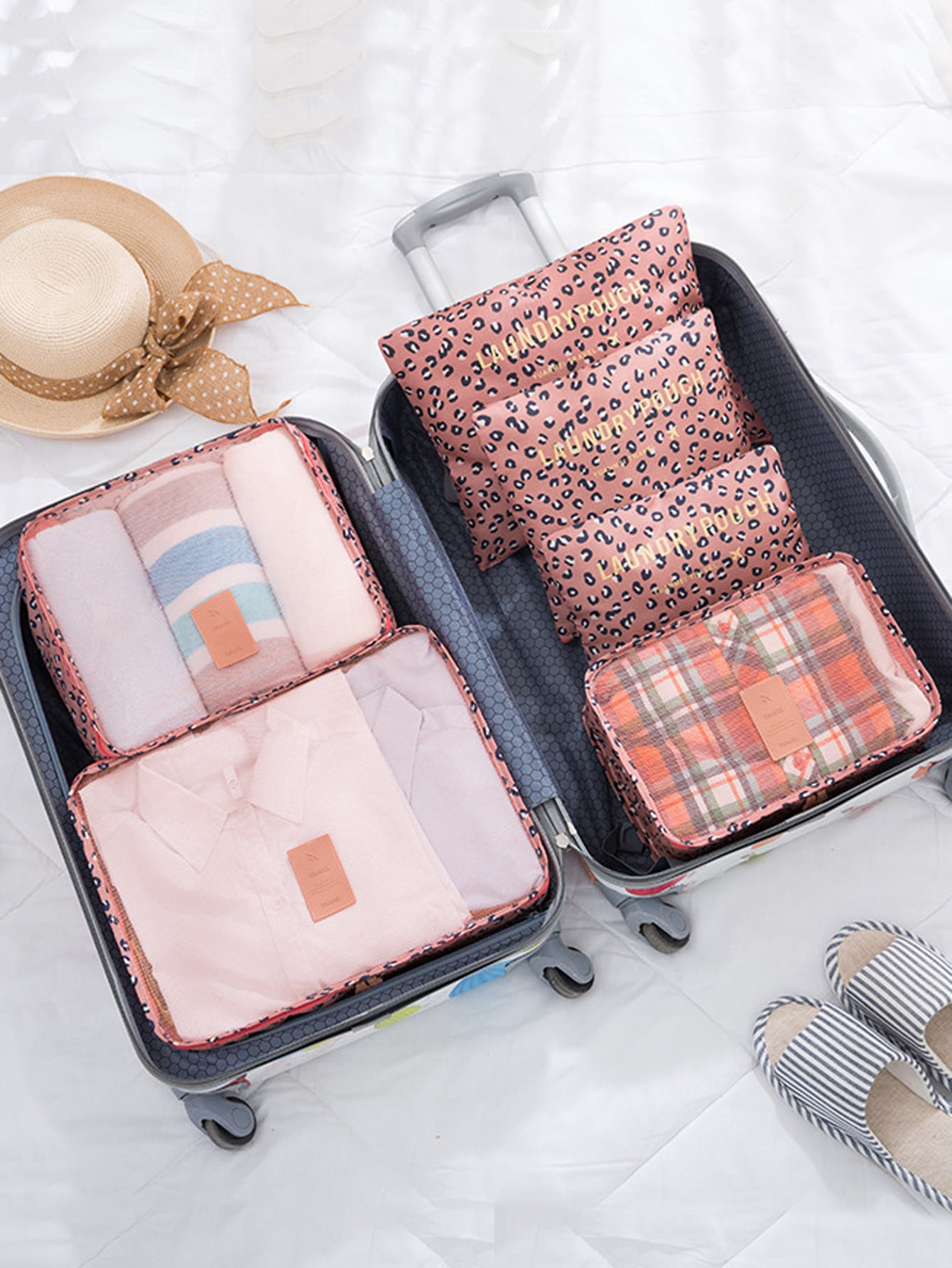 6 Pcs Travel Bags Set Simple Storage Bag