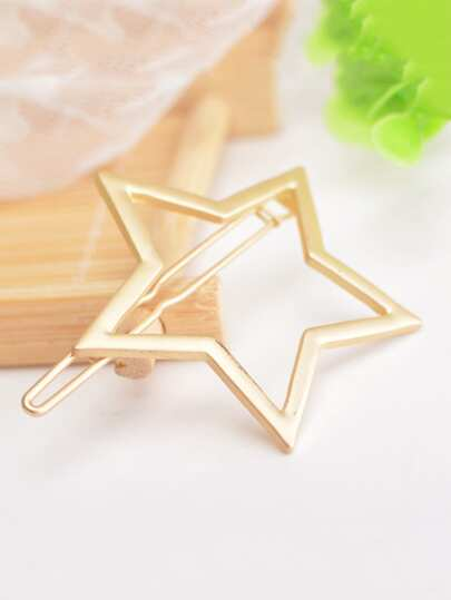 Hollow Star Design Hair Clip
