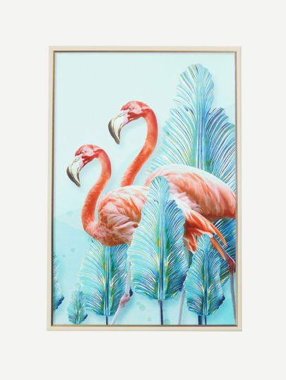 Flamingo & Palm Leaf Wall Decal