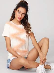 Zig Zag Faux Fur T-shirt