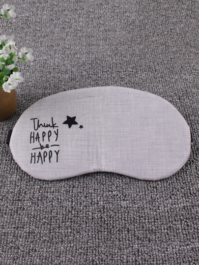 Letter & Cartoon Print Sleeping Eye Mask 1Pc