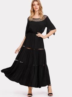 Ruched Waist Swing Dress