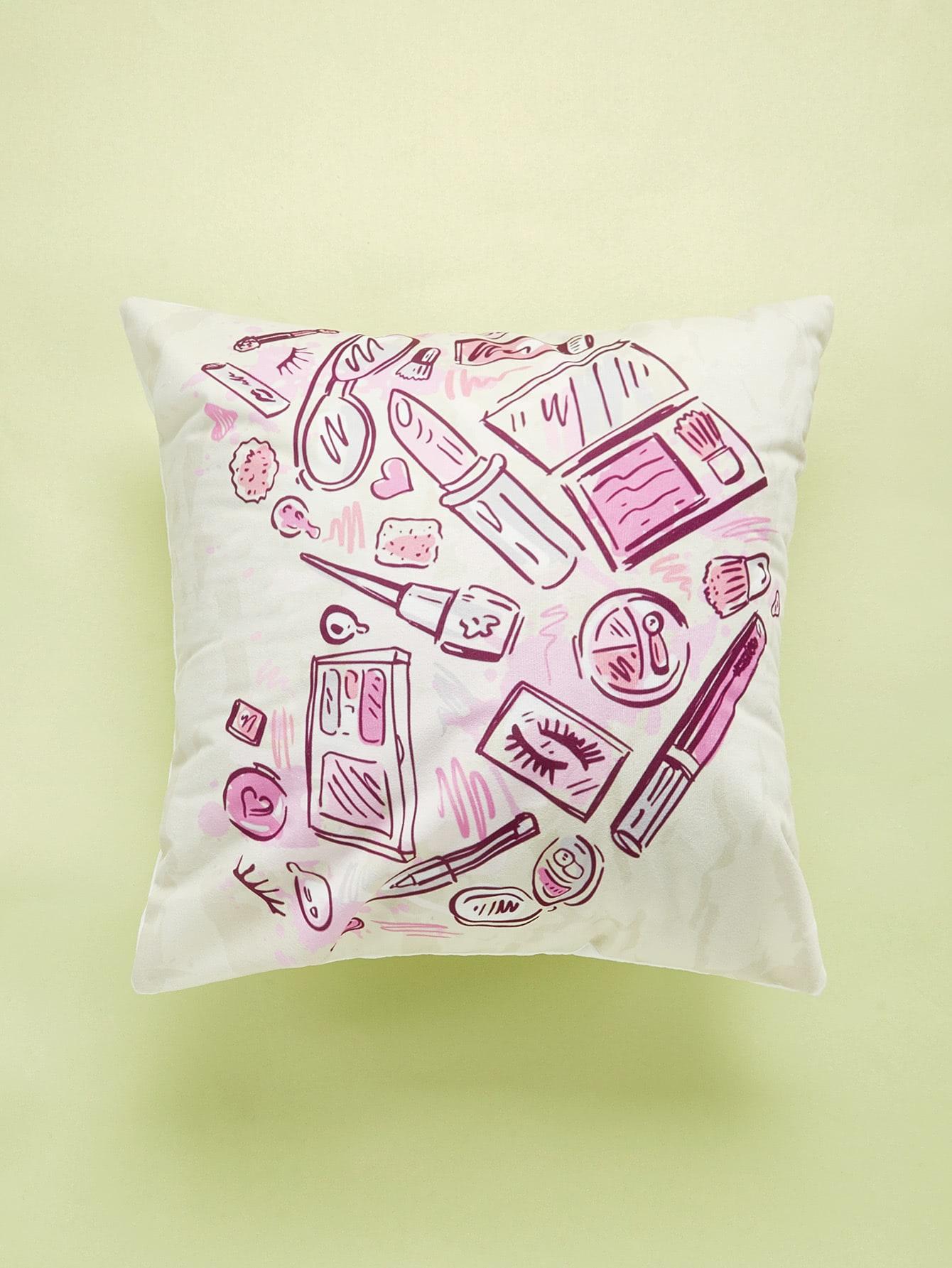Cartoon Comestics Print Cushion Cover