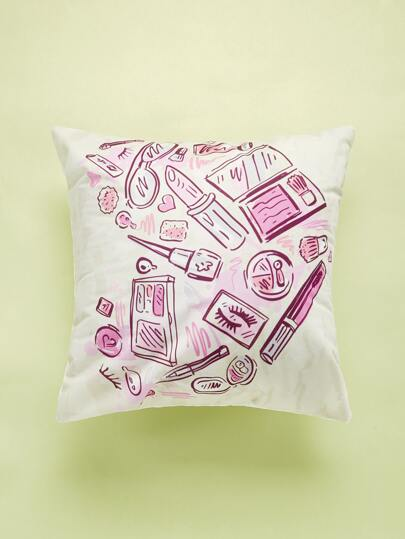 Cartoon Comestics Print Cushion Cover