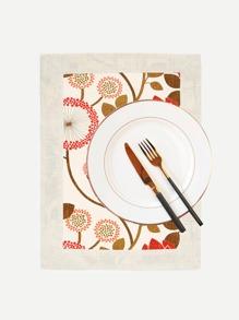 Dandelion Print Dining Mat