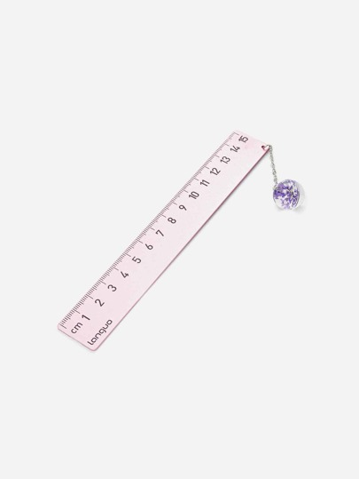 Metal Ruler With Charm