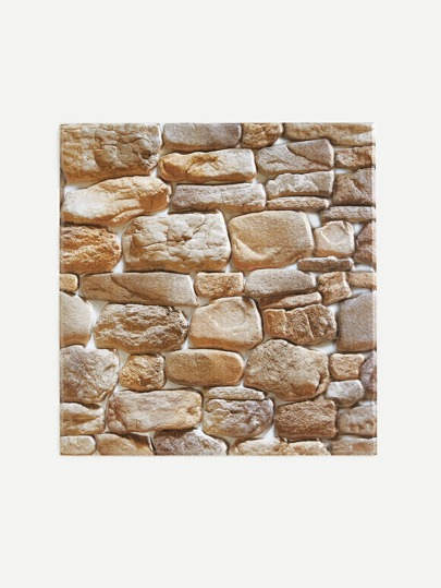 Cobblestone Pattern Wall Sticker