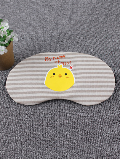 Chick Print Striped Sleeping Eye Mask