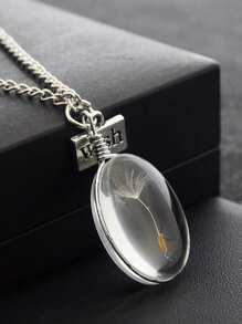 Oval Dandelion Glasses Necklace