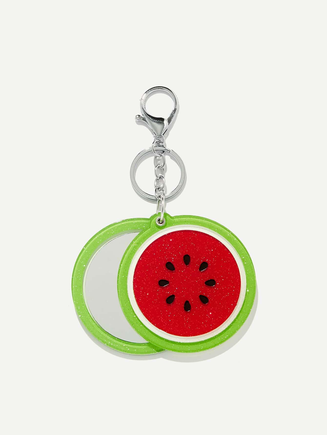 Watermelon Shaped Keychain