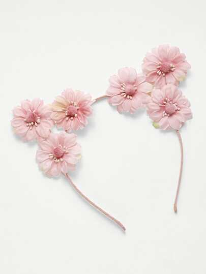 Flower Embellished Ear Headband