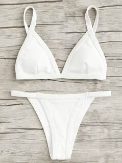 Rib Triangle Bikini Set