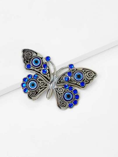 Rhinestone Decorated Butterfly Fridge Magnet