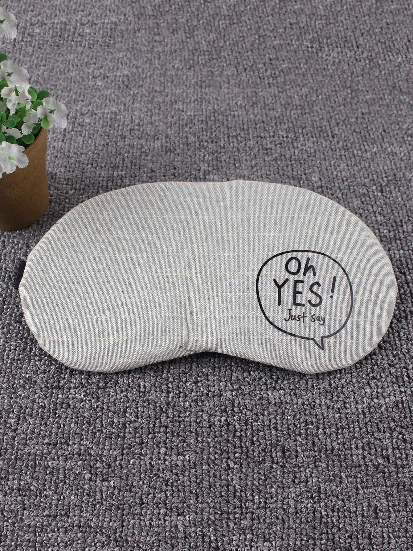Letter Print Eye Mask