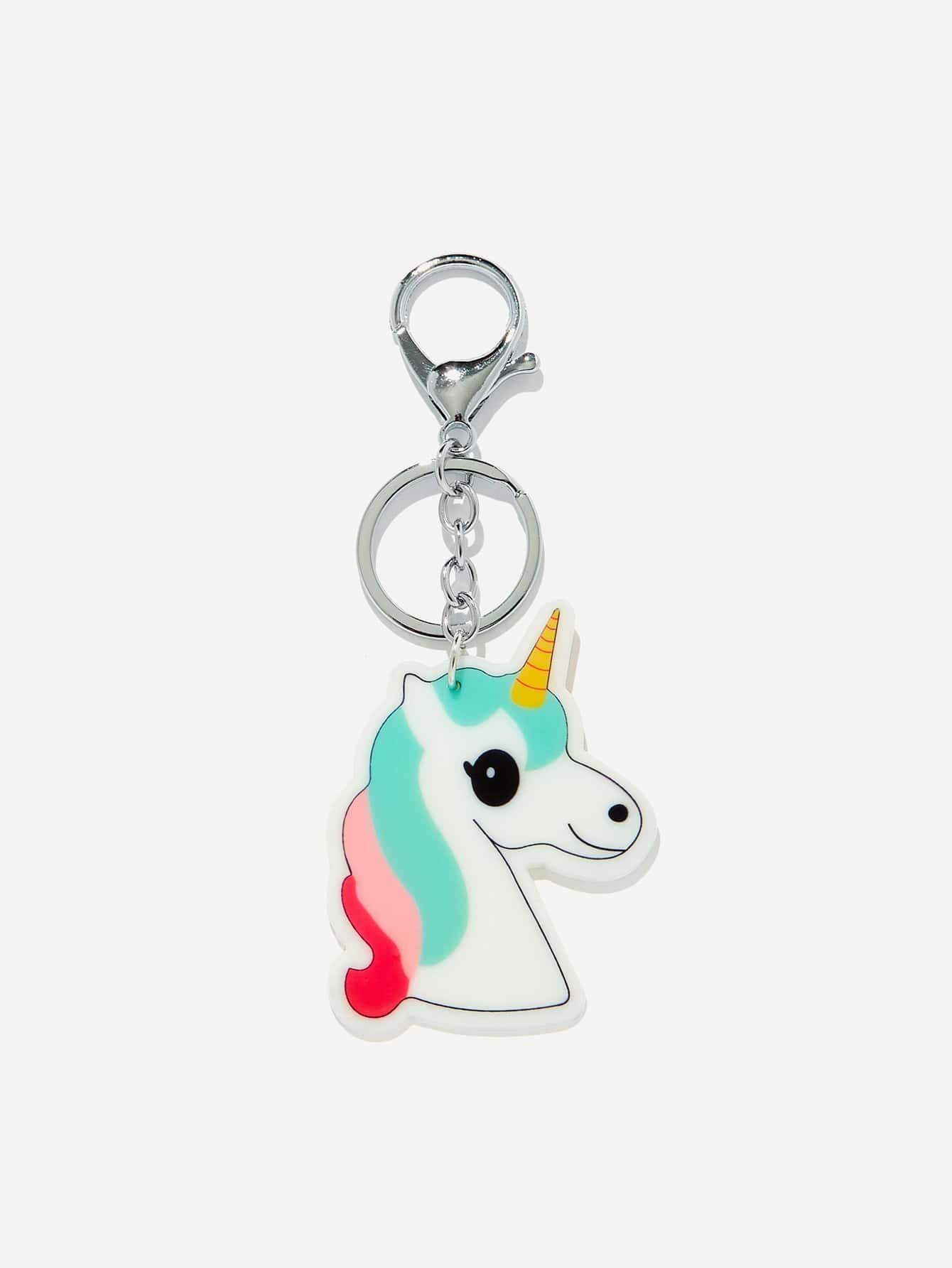 Unicorn Shaped Keychain