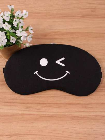 Emoji Print Eye Mask