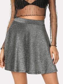 Glitter Flared Skirt