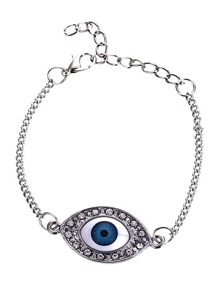 Eye Linked Chain Bracelet