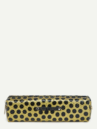 Glitter Polka Dot Pencil Case