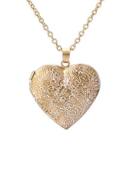 Decor Heart Pendant Necklace