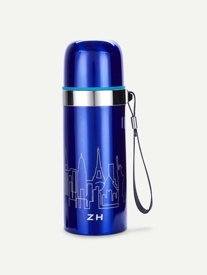 Graphic Print Vacuum Bottle