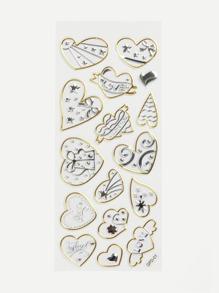 Heart Pattern Wall Stickers