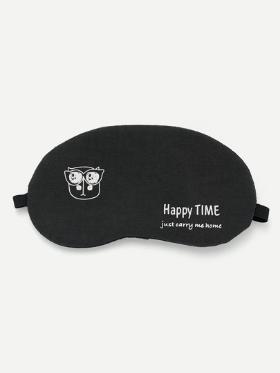 Graphic Print Eye Mask