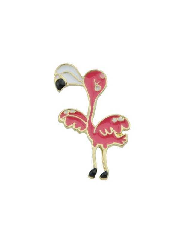 Enamel Flamingo Pattern Brooch hollow enamel christmas bell floral brooch