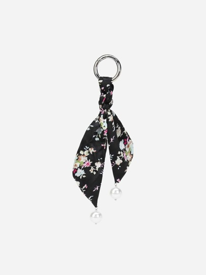 Calico Print Scarf Bag Accessory