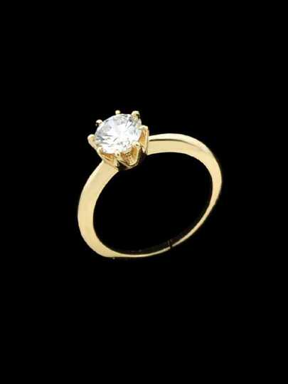 Gold-6 Cubic Zirconia Finger Rings