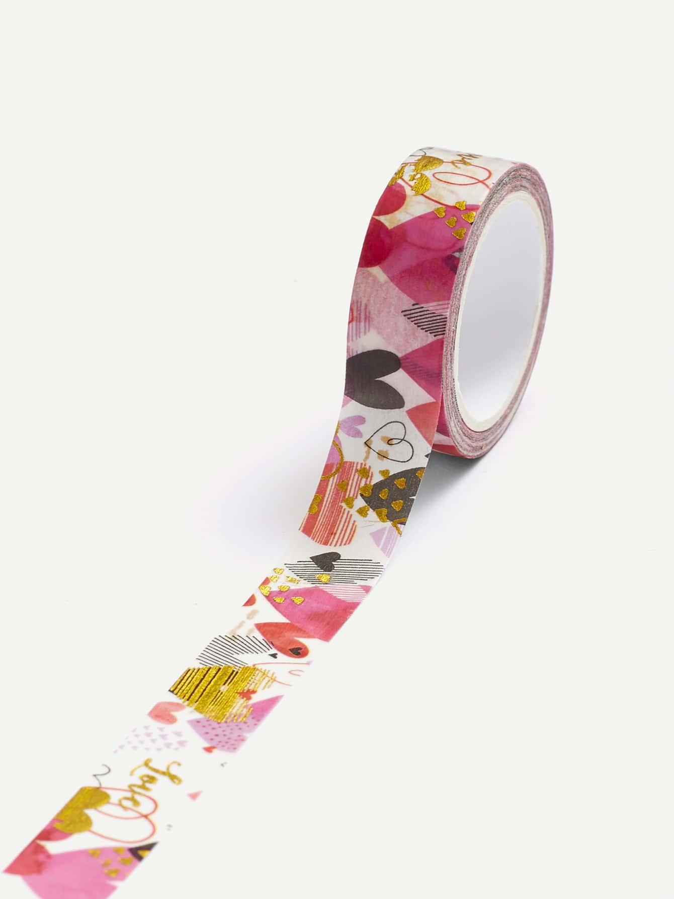 Heart Print Masking Tape metallic masking tape