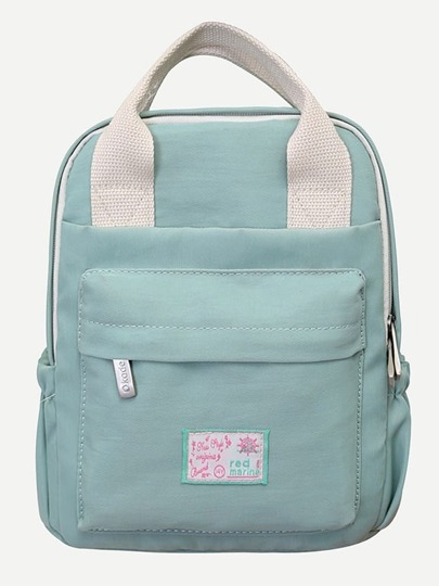 Patch Detail Top Handle Backpack