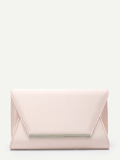 Metal Detail Clutch Bag