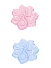 1Pc Random Color Flower Shaped Mould
