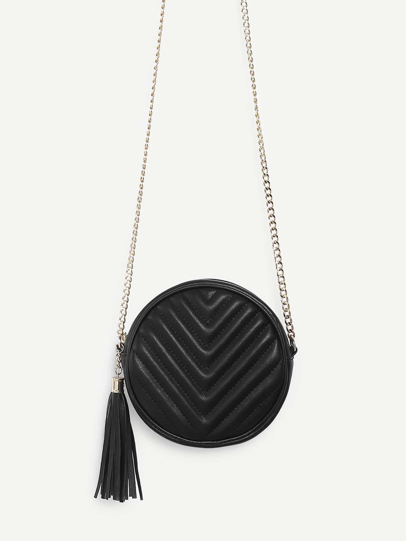 Tassel Detail Ball Design Chain Bag tassel detail studded chain bag