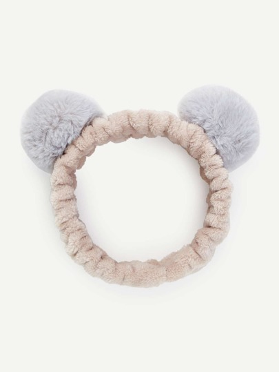 Pom Pom Ear Cosmetic Headband