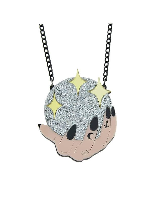 Ball Star Pattern Geometric Pendant Necklace