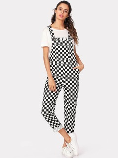Plaid Tailored Jumpsuit