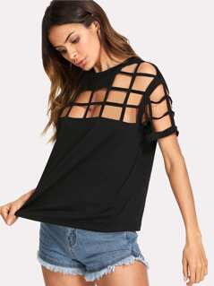 Caged Front Tee