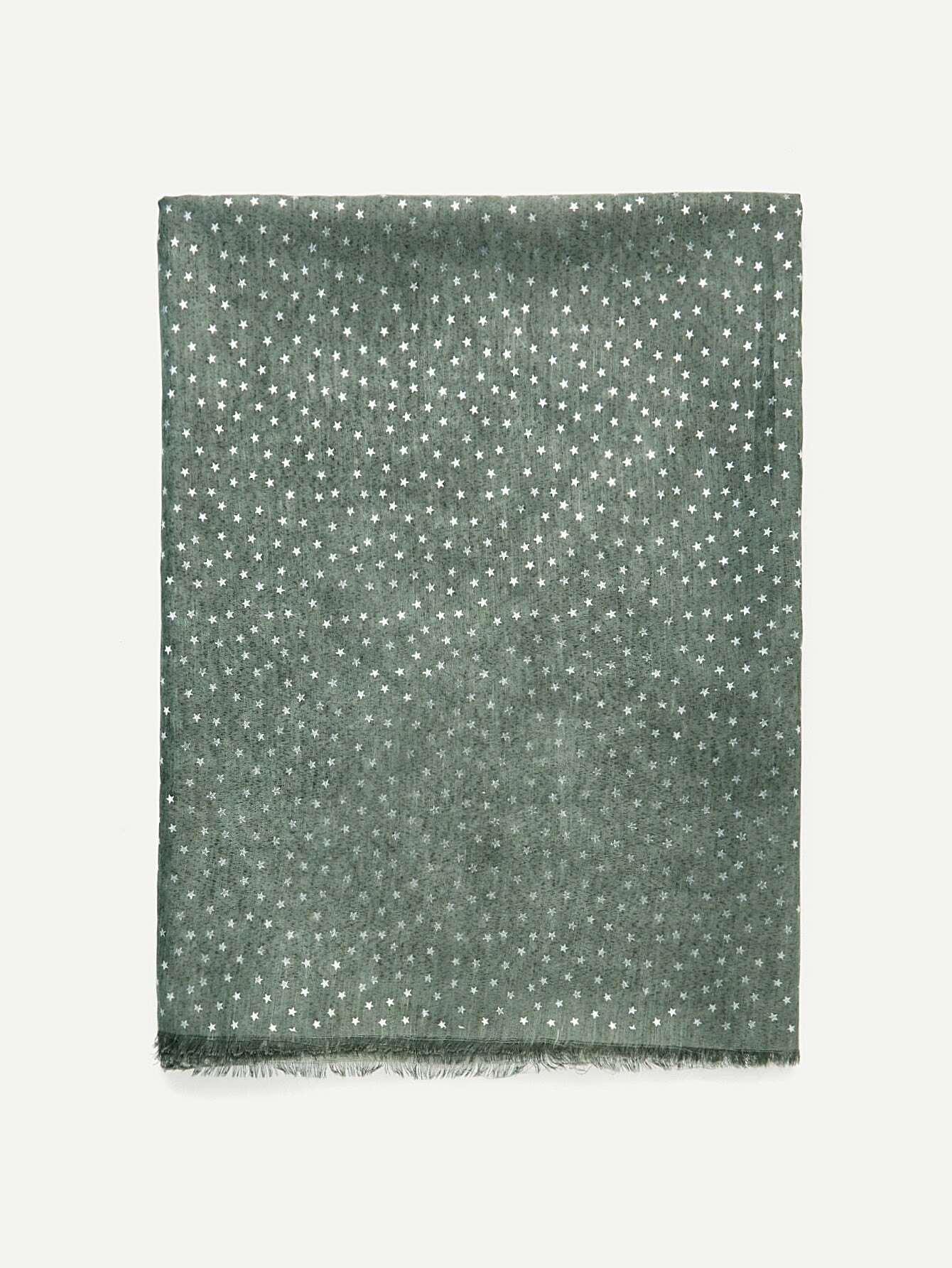 Metallic Star Print Raw Edge Scarf джинсы мужские g star raw 604046 gs g star arc
