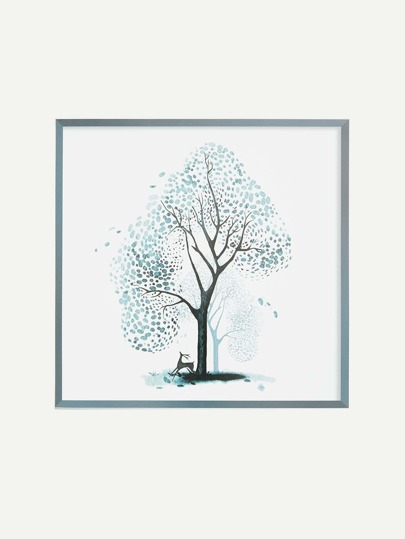 Ink Painting Tree Wall Decor